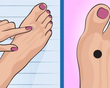 Si presionas este punto de su pie antes de ir a la cama, sucederá algo tan inesperado como deseado