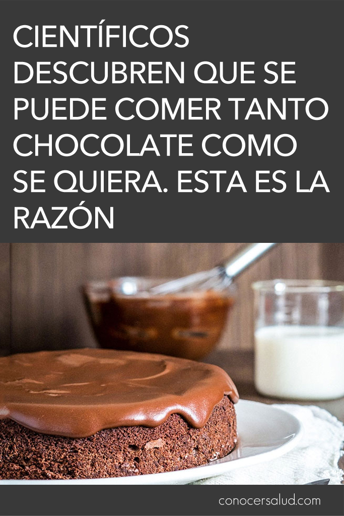 Científicos descubren que se puede comer tanto chocolate como se quiera. Esta es la razón