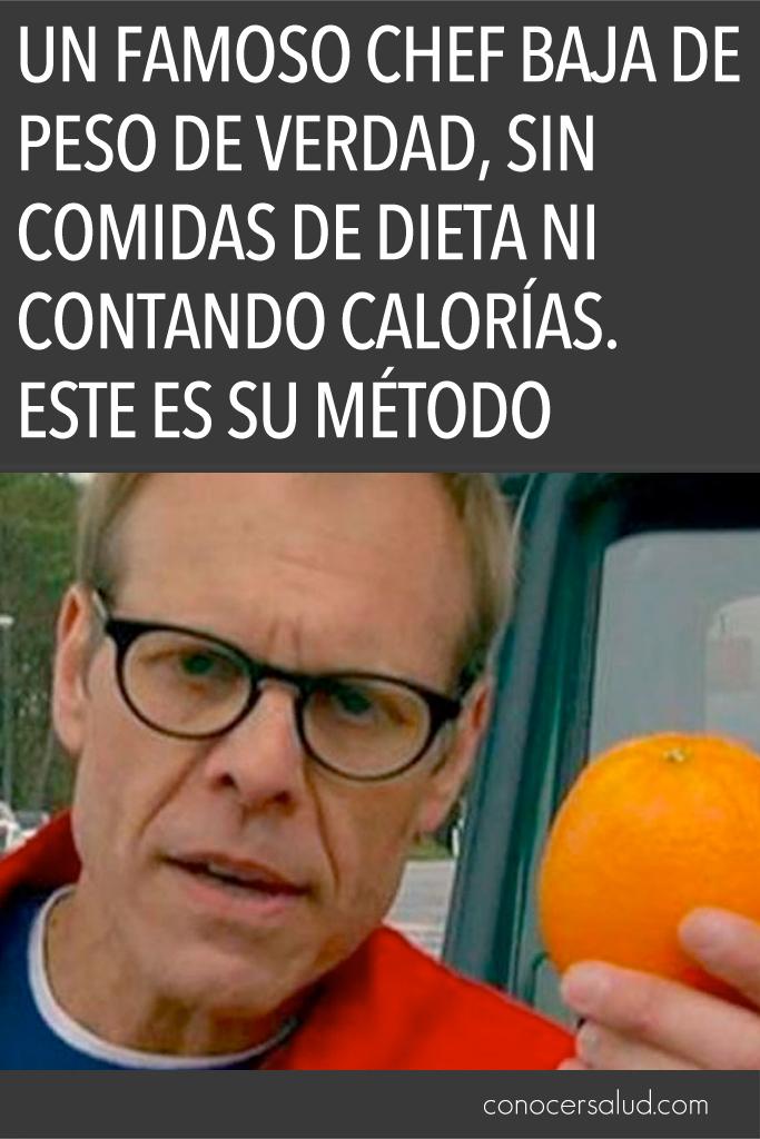 Un famoso chef baja de peso DE VERDAD, sin comidas de dieta ni contando calorías. Este es su método