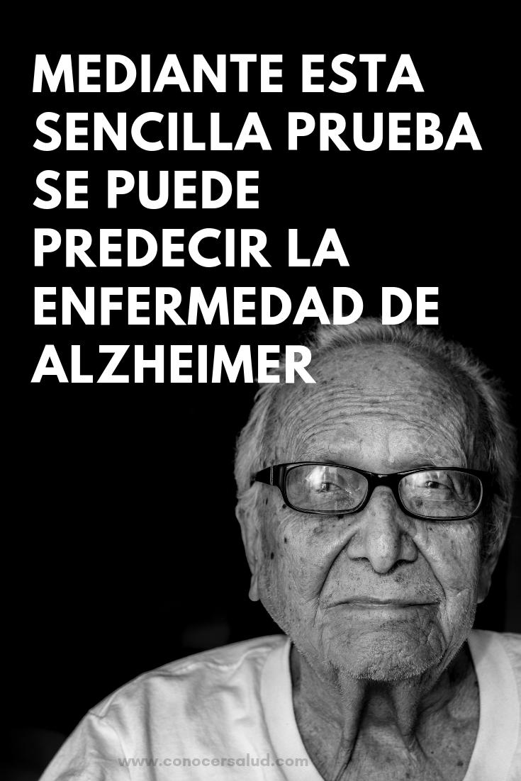 Mediante esta sencilla prueba se puede predecir la enfermedad de Alzheimer