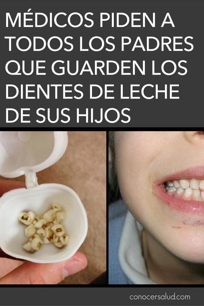 Médicos piden a todos los padres que guarden los dientes de leche de sus hijos