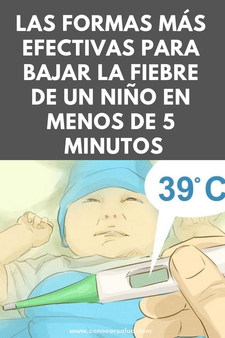 Las formas más efectivas para bajar la fiebre de un niño sin medicamentos y en menos de 5 minutos