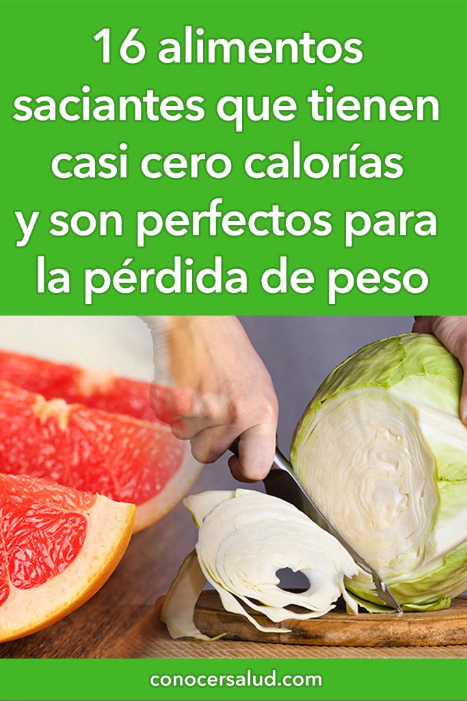 16 alimentos saciantes que tienen casi cero calorías y son perfectos para la pérdida de peso