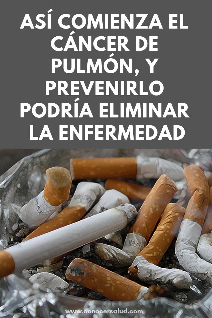 Así comienza el cáncer de pulmón, y prevenirlo podría eliminar la enfermedad