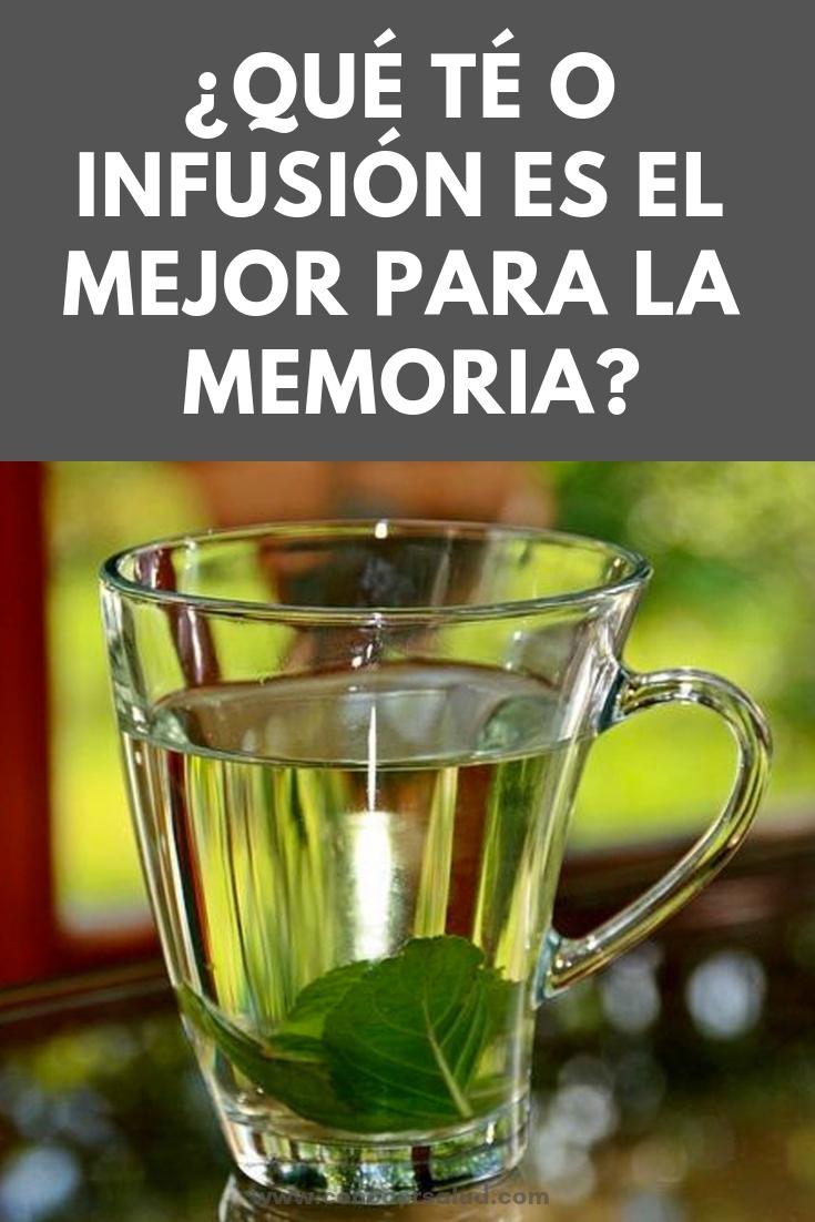 ¿Qué té o infusión es el mejor para la memoria?