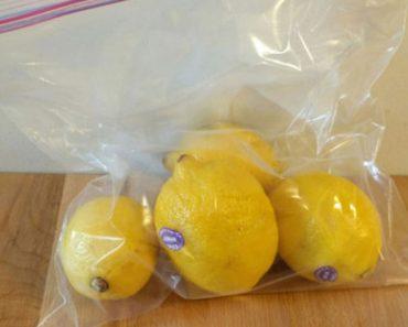 Esta simple truco de la bolsa mantendrá sus limones frescos durante todo un mes