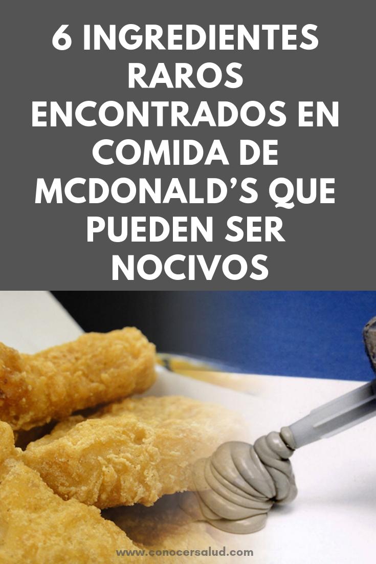 6 ingredientes raros encontrados en comida de McDonald's que pueden ser nocivos