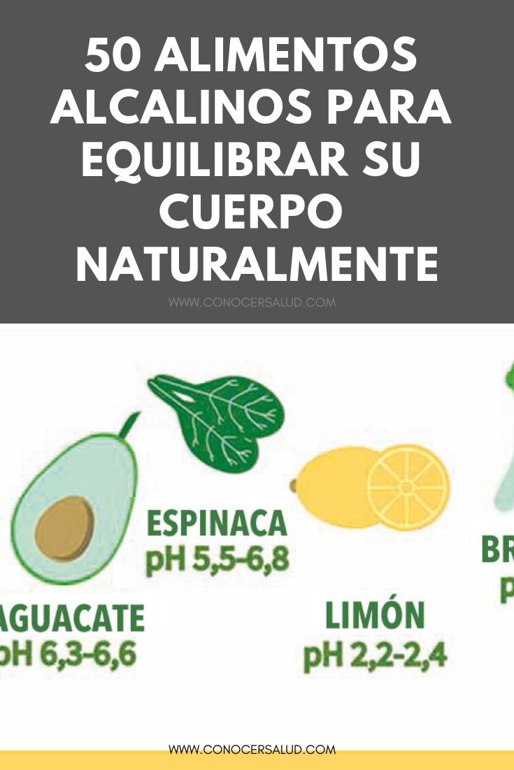 50 alimentos alcalinos para equilibrar su cuerpo naturalmente