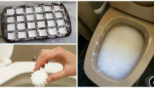 Ponga esto en su inodoro para matar las bacterias y eliminar los olores - NO SE REQUIERE ningún fregado