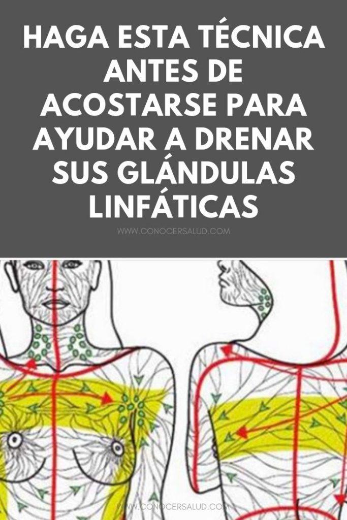 Haga esta técnica antes de acostarse para ayudar a drenar sus glándulas linfáticas