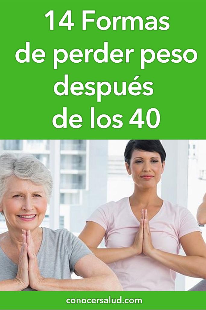 14 Formas de perder peso después de los 40