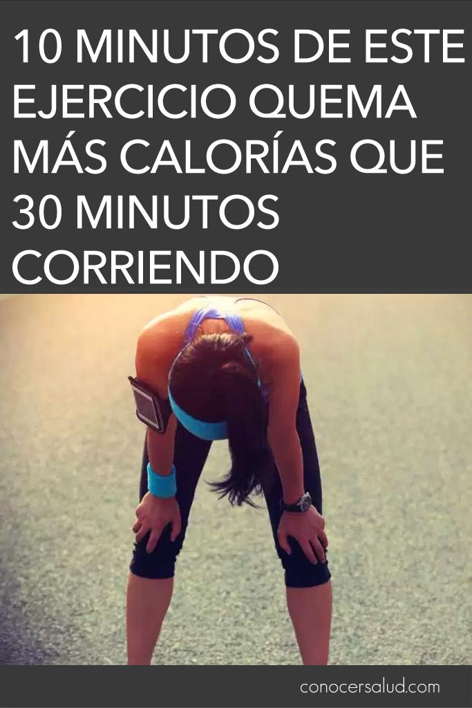 10 Minutos de este ejercicio quema más calorías que 30 minutos corriendo