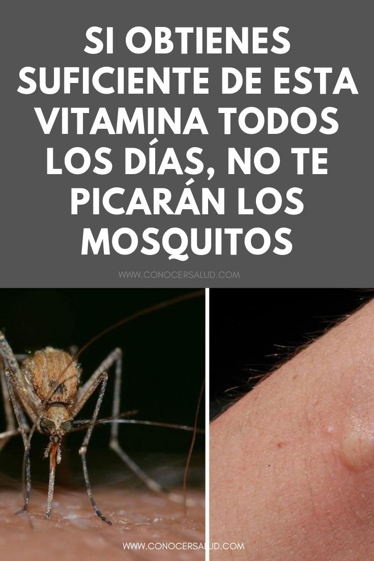 Si obtienes suficiente de esta vitamina todos los días, no te picarán los mosquitos