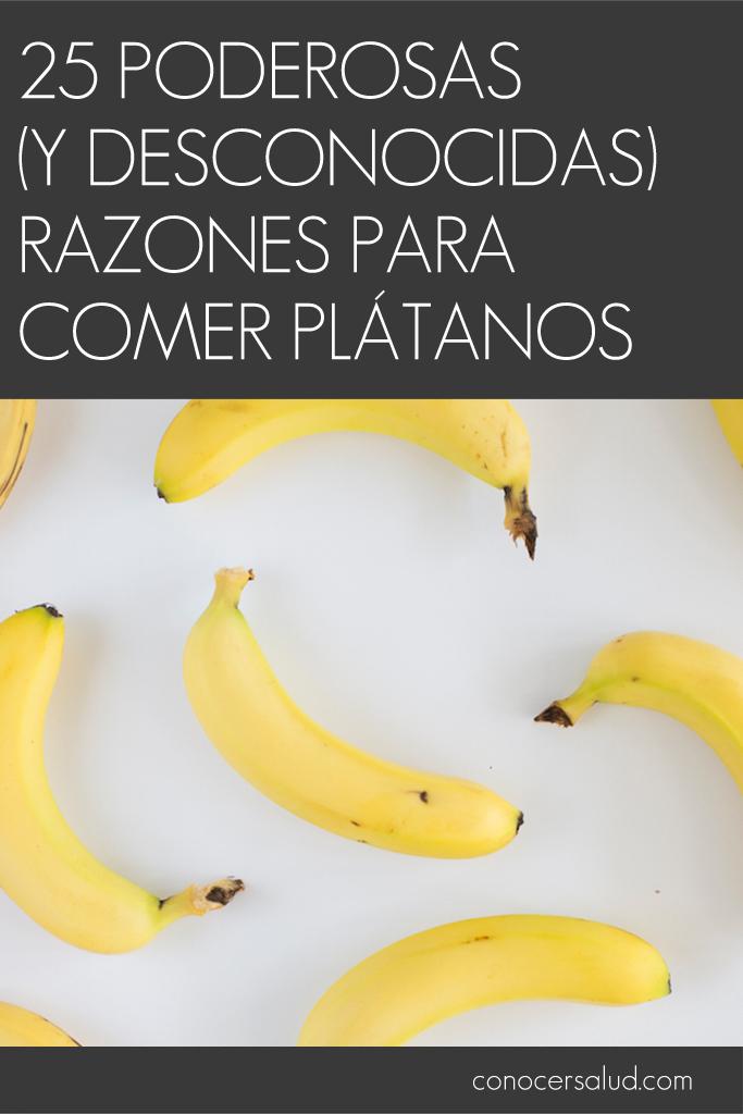 25 poderosas (y desconocidas) razones para comer plátanos