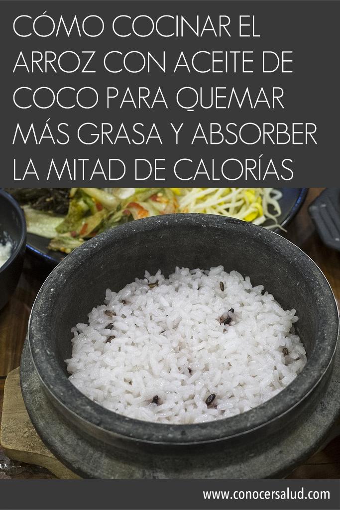 Cómo cocinar el arroz con aceite de coco para QUEMAR más grasa y ...