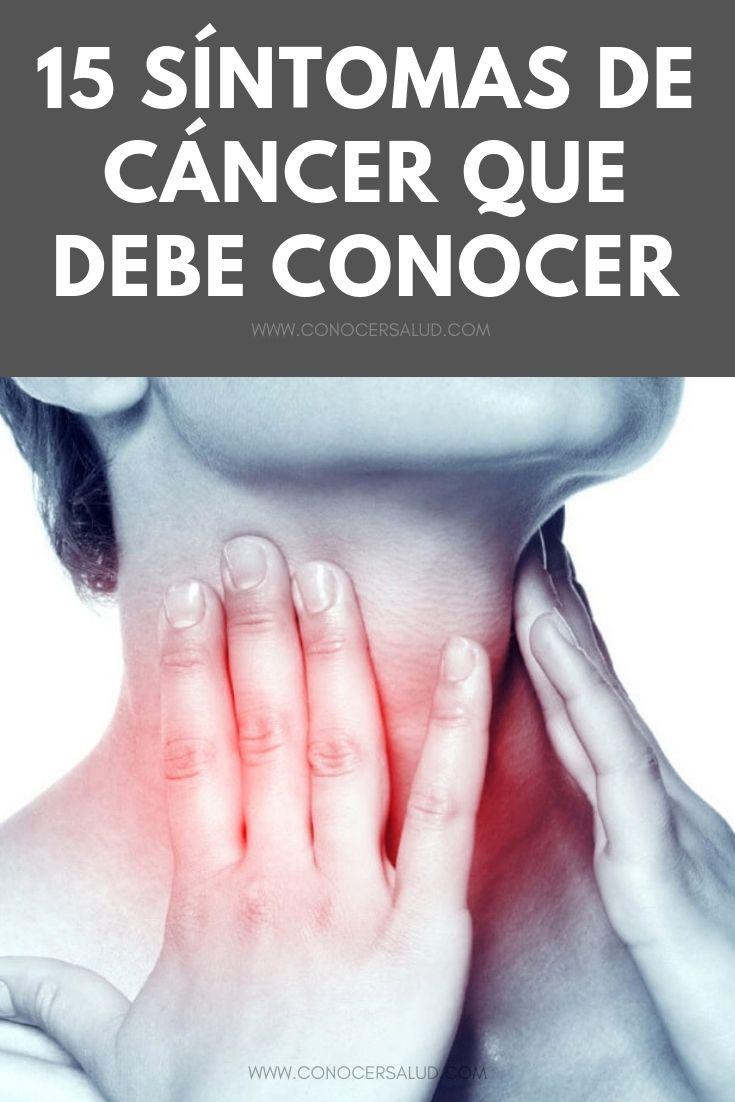 15 síntomas de cáncer que debe conocer