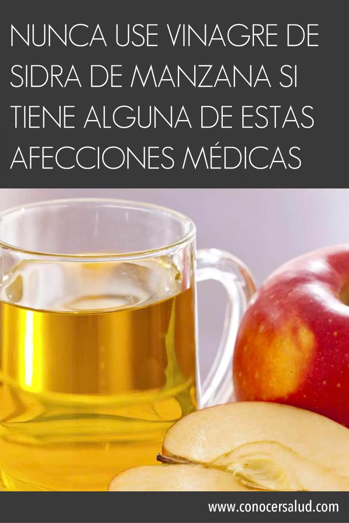Nunca use vinagre de sidra de manzana si tiene alguna de estas afecciones médicas