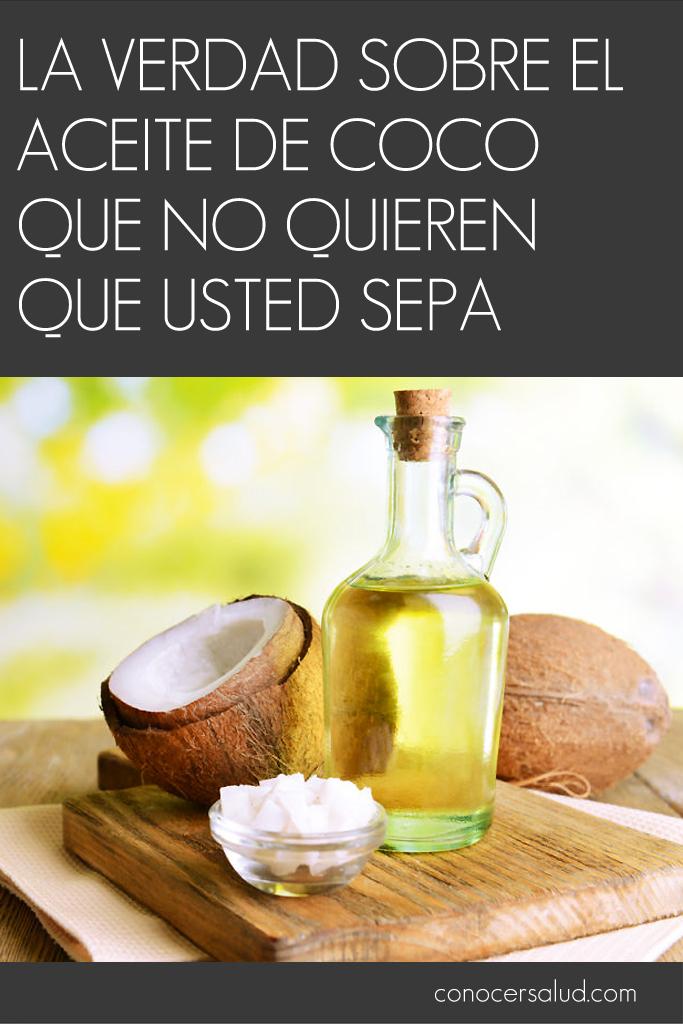 La verdad sobre el aceite de coco que no quieren que usted sepa