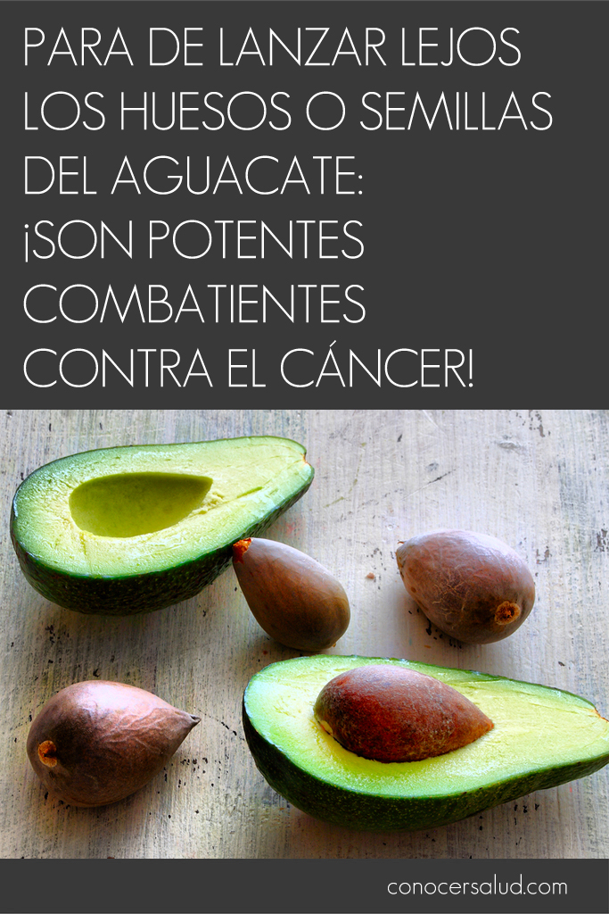 PARA de tirar los huesos o semillas del aguacate: ¡Son potentes combatientes contra el cáncer!