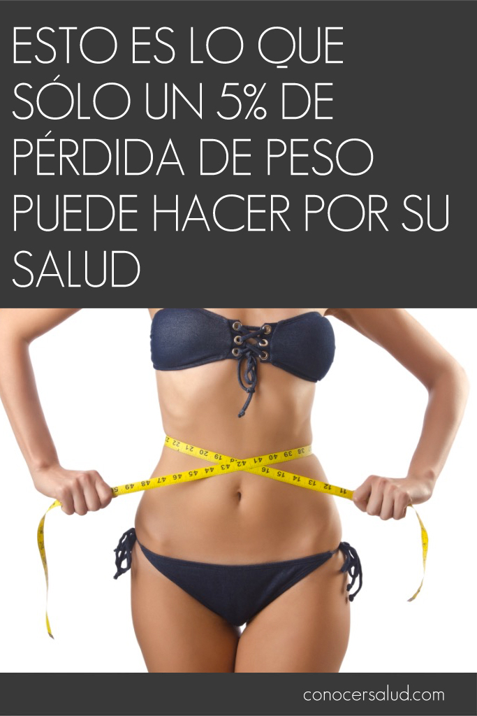 Esto es lo que SÓLO un 5% de pérdida de peso puede hacer por su salud
