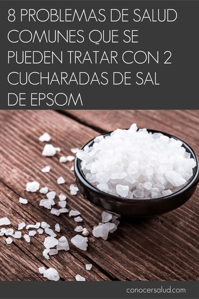 8 problemas de salud comunes que se pueden tratar con 2 cucharadas de sal de Epsom
