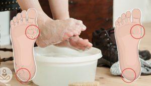 Remoje sus pies en esta mezcla cada 2 semanas para curar los pies secos y agrietados