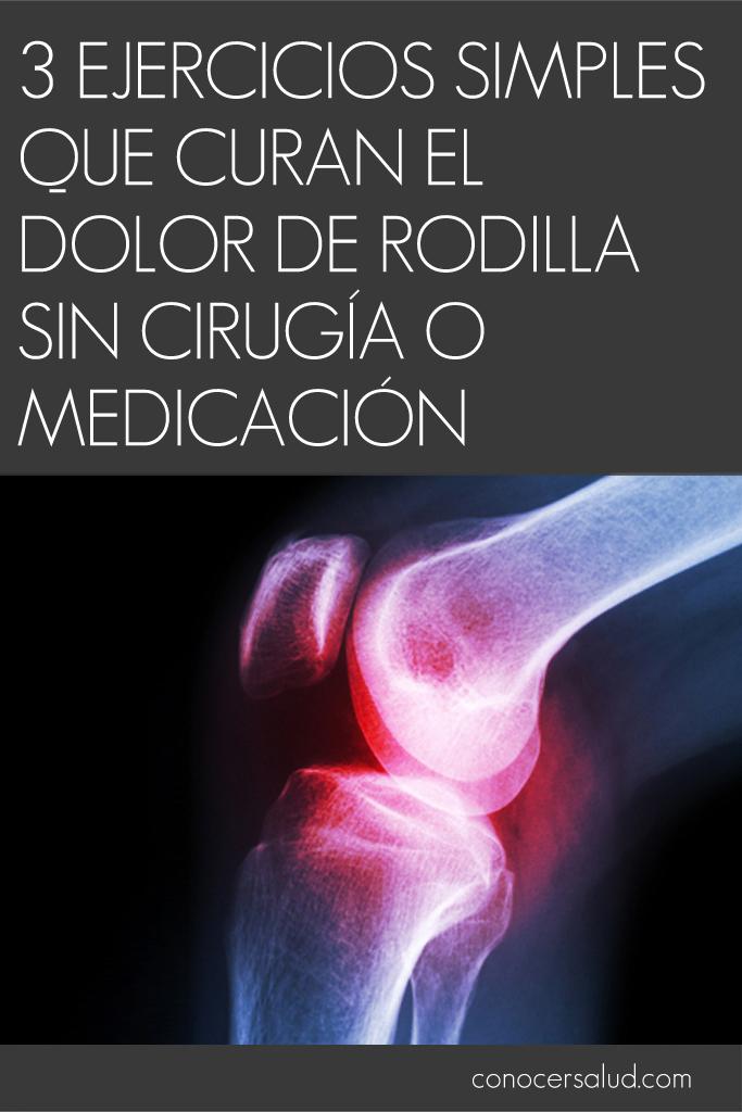 3 ejercicios simples que curan el dolor de rodilla sin cirugía o medicación