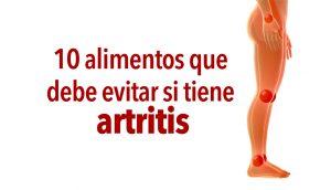 10 alimentos que debe evitar si tiene artritis