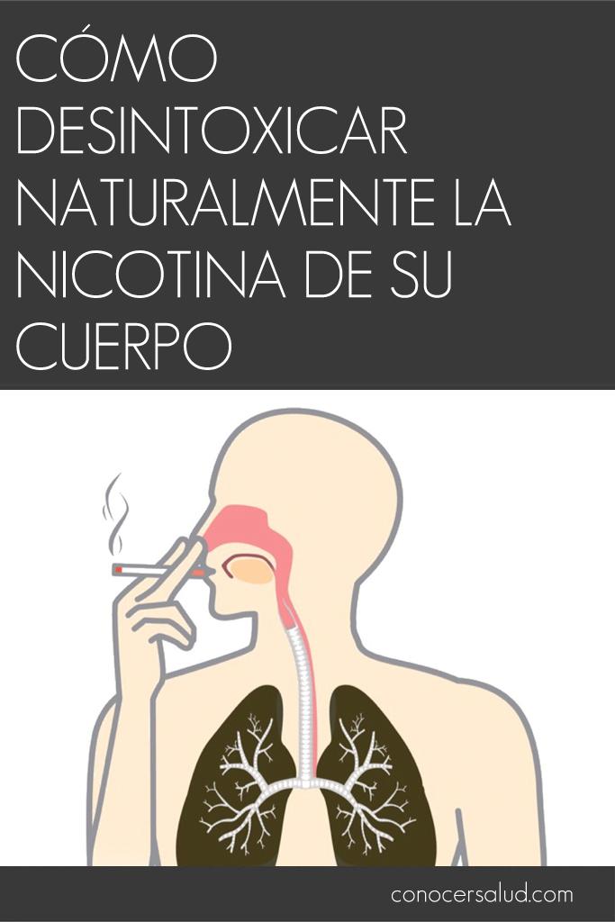 Cómo desintoxicar naturalmente la nicotina de su cuerpo