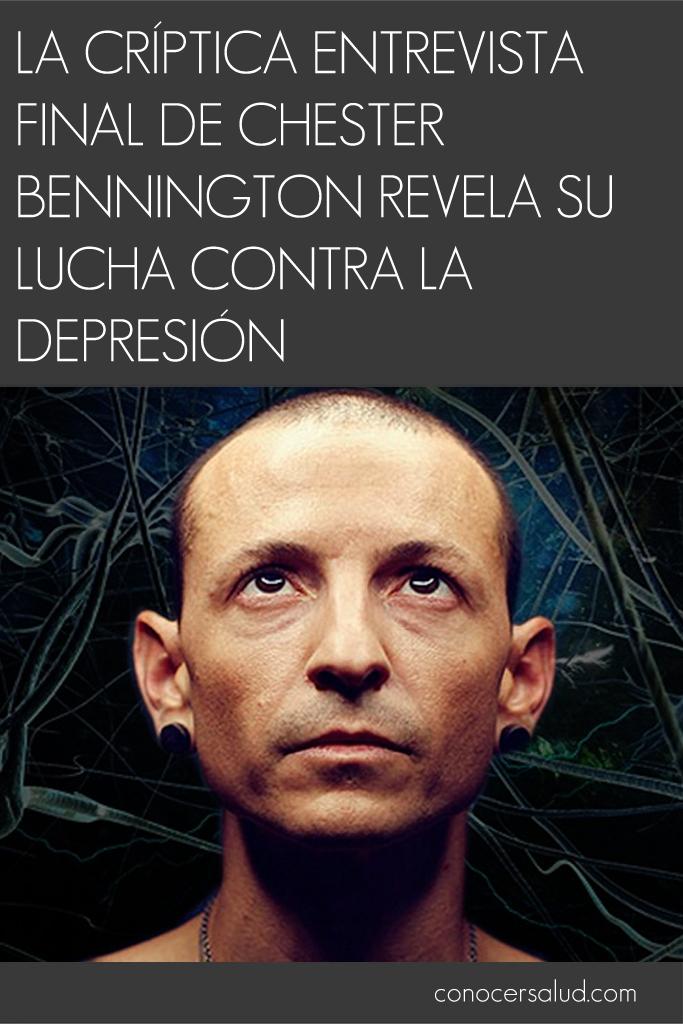 La críptica entrevista final de Chester Bennington revela su lucha contra la depresión