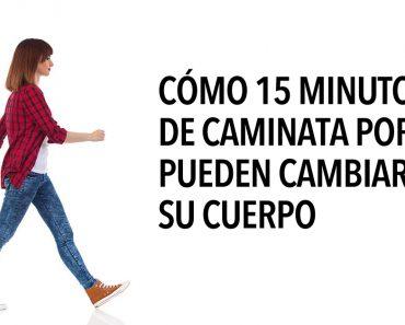 Cómo 15 minutos de caminata por día pueden cambiar su cuerpo