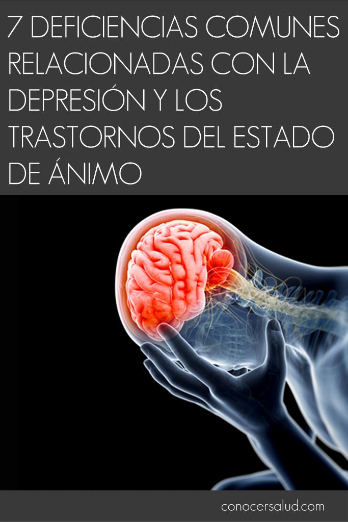 7 deficiencias comunes relacionadas con la depresión y los trastornos del estado de ánimo