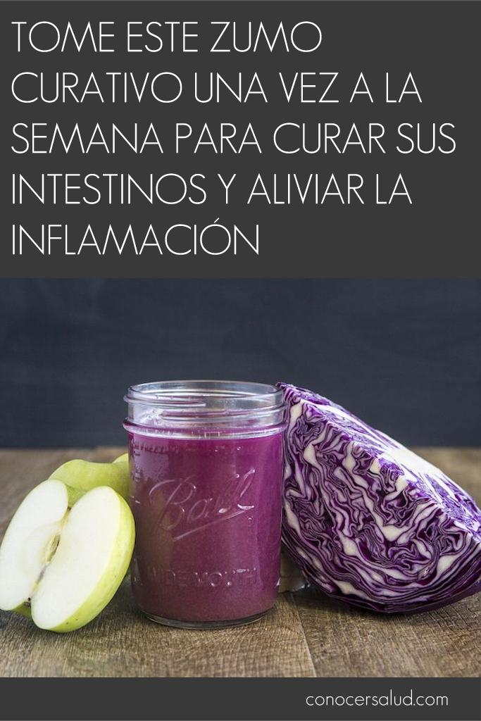 Tome este zumo curativo una vez a la semana para curar sus intestinos y aliviar la inflamación
