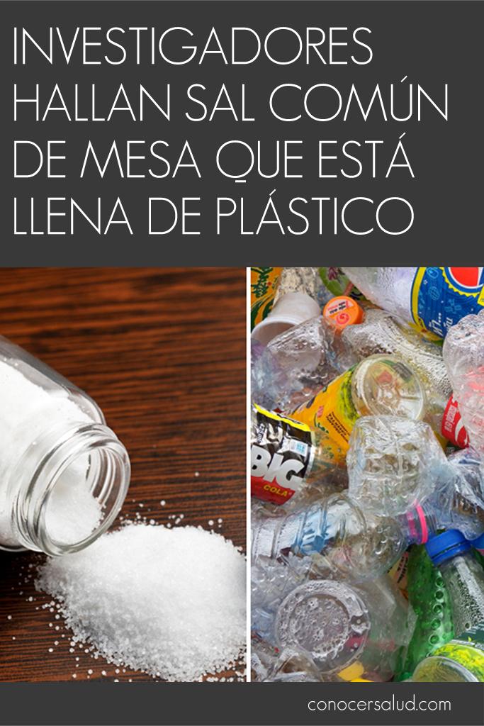 Investigadores hallan sal común de mesa que está LLENA de plástico