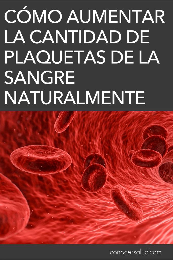 Cómo aumentar la cantidad de plaquetas de la sangre naturalmente