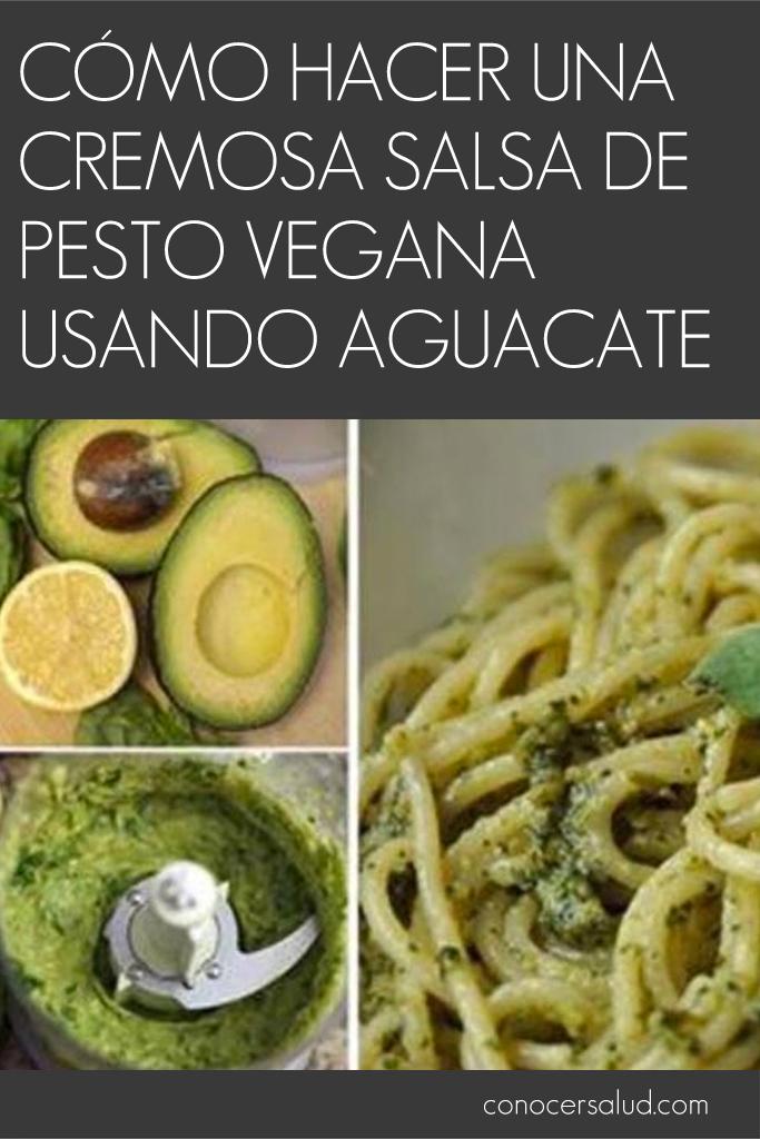 Cómo hacer una cremosa salsa de pesto vegana usando aguacate