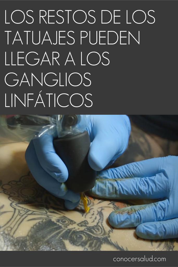 Los restos de los tatuajes pueden llegar a los ganglios linfáticos