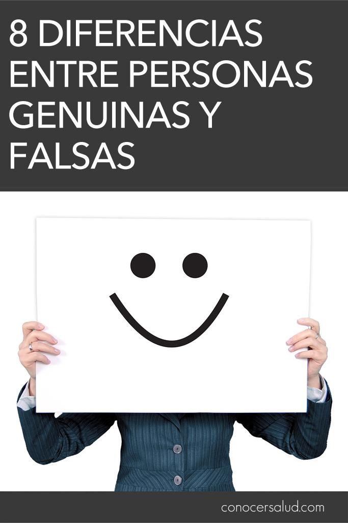 8 diferencias entre personas genuinas y falsas