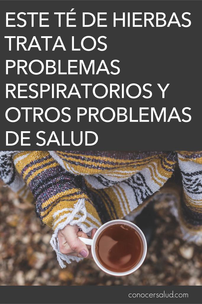 Este té de hierbas trata los problemas respiratorios y otros problemas de salud