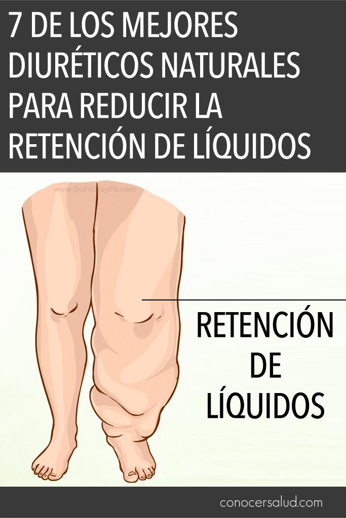 7 de los mejores diuréticos naturales para reducir la retención de líquidos