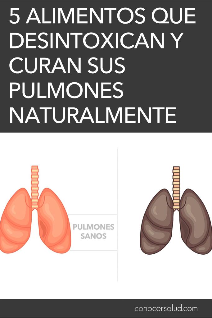 5 alimentos que desintoxican y curan sus pulmones naturalmente