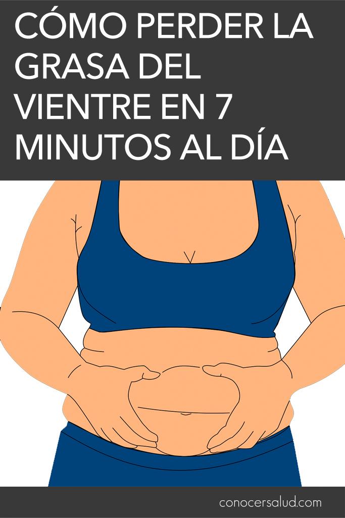 Cómo perder la grasa del vientre en 7 minutos al día