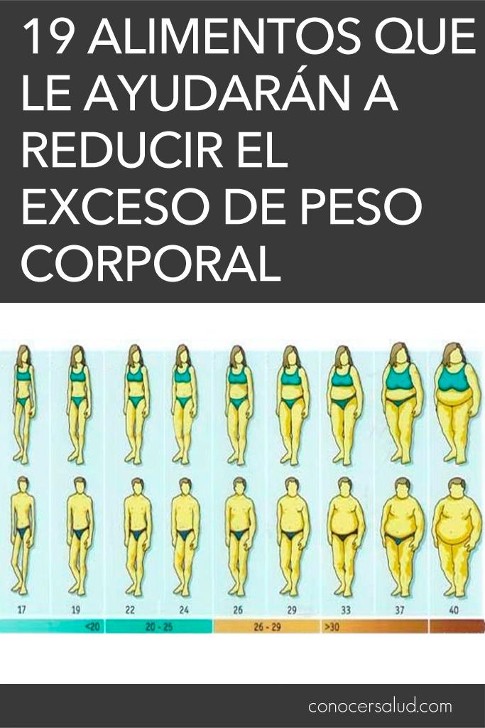 19 alimentos que le ayudarán a reducir el exceso de peso corporal