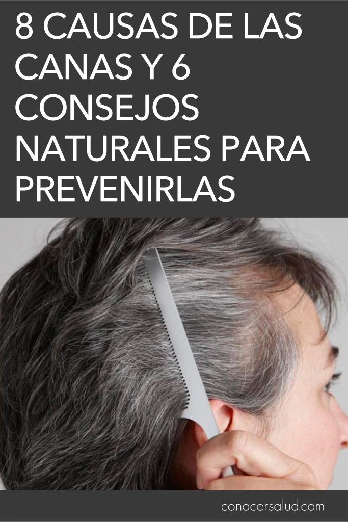 8 causas de las canas y 6 consejos naturales para prevenirlas