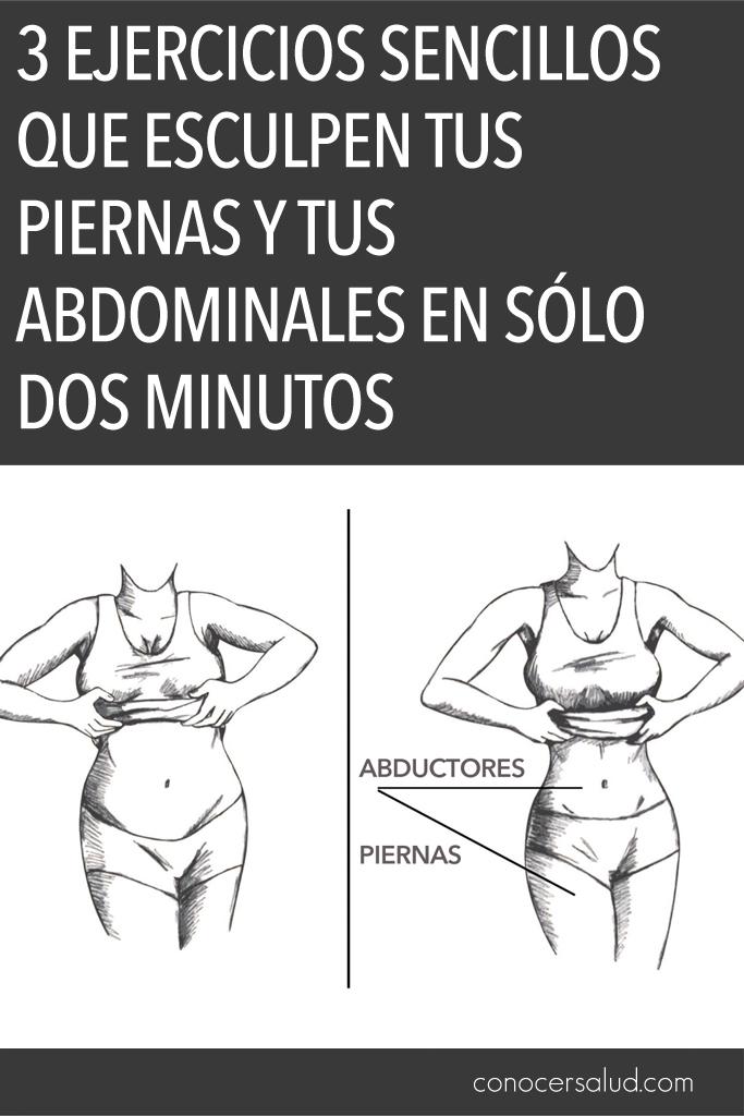3 Ejercicios sencillos que esculpen tus piernas y tus abdominales en sólo dos minutos