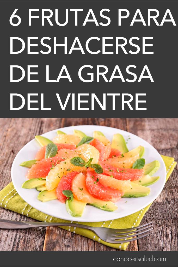 6 frutas para deshacerse de la grasa del vientre