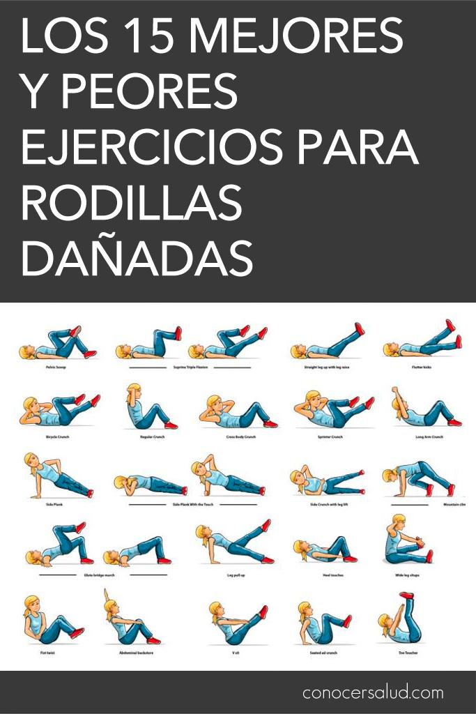 Los 15 mejores y peores ejercicios para rodillas dañadas