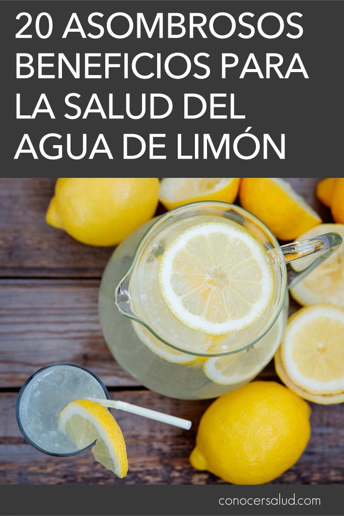 20 asombrosos beneficios para la salud del agua de limón
