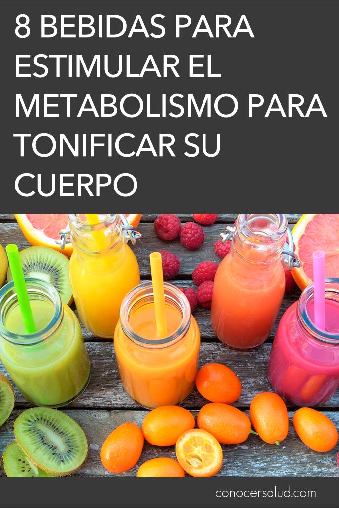 8 Bebidas para estimular el metabolismo para tonificar su cuerpo