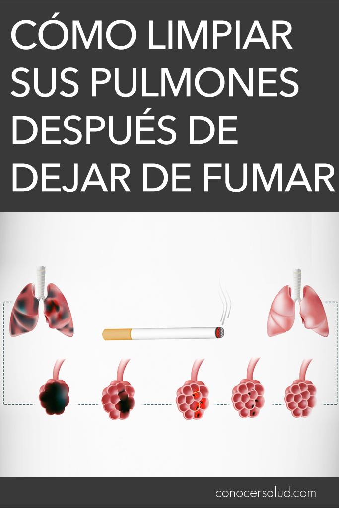 Cómo limpiar sus pulmones después de dejar de fumar
